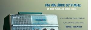 fm via libre medios de comunicacion | radios en ex estacion de ferrocarril, maria teresa, santa fe