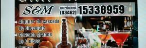 s & m cascadas de chocolate y fondeu de queso fiestas eventos | catering en brown 1657, venado tuerto, santa fe
