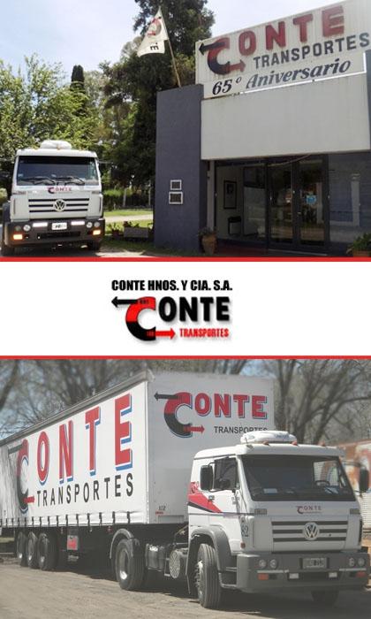 publicidad TRANSPORTE CONTE